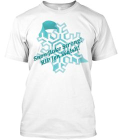 Snow Flake Strong Rip Jen Walsh White T-Shirt Front