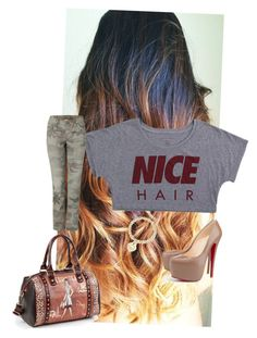 Trip to the salon by andreka11 on Polyvore featuring polyvore fashion style Alex and Chloe Pull&Bear Liska True Religion Christian Louboutin Nicole Lee CÉLINE Clare V. Accessorize Tiffany & Co. Dolce&Gabbana clothing