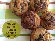 Peanut Butter Nutella Banana Muffins! This is another awesome recipe I've made many times and you should too :D