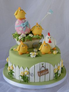 Celebrating Easter in style with a Chocolate Egg - Cake by Marlene - CakeHeaven Easter Cupcakes, Easter Cookies, Easter Treats, Fondant Cakes, Cupcake Cakes, Baby Cakes, Easter Cake Fondant, Super Torte, Chicken Cake