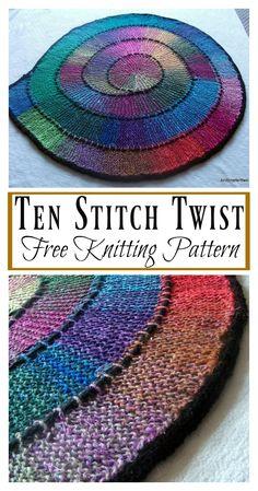 Ten Stitch Twist Blanket Free Knitting Pattern The post Ten Stitch Twist Blanket Free Knitting Pattern appeared first on Best Knitting Pattern. Loom Knitting Patterns, Easy Knitting, Knitting For Beginners, Knitting Stitches, Knitting Projects, Stitch Patterns, Sock Knitting, Knitting Tutorials, Crafts