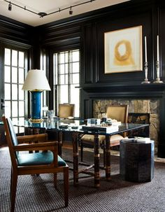 Study by Robert Brown Interior Design; Atlanta.