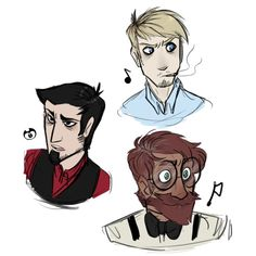 Sammy (blonde) Joey (black hair) and Henry (the cinnamon roll at the bottom)
