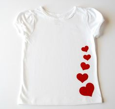 Valentine's day shirt. Use design, except inset different colours underneath