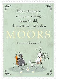 Stuhl,Postkarte,Plattdeutsch