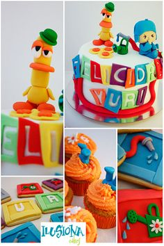 Pocoyo. Cake Pocoyo, 2nd Birthday, Happy Birthday, Fondant, Cupcakes, Yummy Cakes, Cake Pops, Cake Recipes, Sweet Tooth