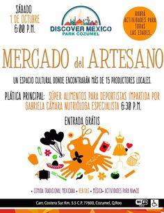 Mercado del artesano en Discover México éste 1o de Octubre / Handcrafts' market at Discover Mexico on October 1st.