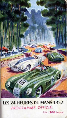 Programme Guide for the 24 Heures du Mans, 14-15 June 1952 by Geo Ham