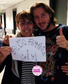 Mirco del Grande Fratello con Franca Oman per www.calciodonne.it
