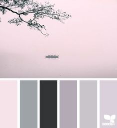Dress It Up -- Color palette of: creamy white, blush, palest to pale lavender, pale grey to medium grey and black.