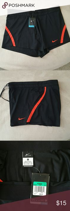 Nike Dri-Fit Running Shorts NWT Womens Nike Dri-Fit Running Shorts XL. Pull waist string and a inside small pocket. Nike Shorts