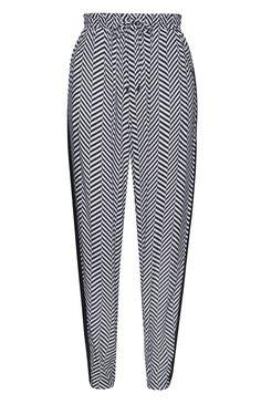 Primark - Pantalón jogger zigzag blanco y negro 8e Pantalon Jogger c866d7621b9