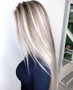 cold shaded champagne balayage hair hair color blonde The 74 Hottest Blonde Hair Looks to Copy This Summer Blonde Hair Looks, Summer Blonde Hair, Dyed Blonde Hair, Silver Blonde, Blonde Balayage Long Hair, Long Blond Hair, Cool Toned Blonde Hair, Sandy Blonde Hair, Bright Blonde Hair