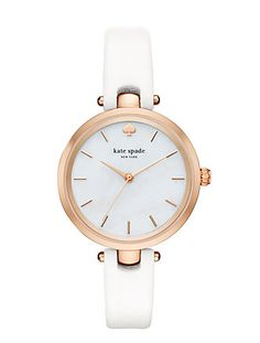 white and rose holland watch by kate spade new york