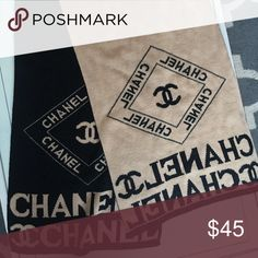 Chanel scarf Black and Tan scarf like new condition ! Accessories Scarves & Wraps