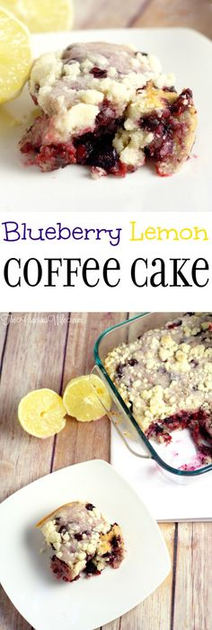 Blueberry Lemon Coffee Cake Recipe - a fresh blueberry and lemon sweet breakfast recipe idea that's great for a crowd.  It's quick and easy to prep and you can even make ahead and freeze.  I LOVE blueberries and lemons together. So tasty!
