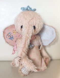 """""""Harriet"""" the baby elephant, by Ragtail n Tickle."""