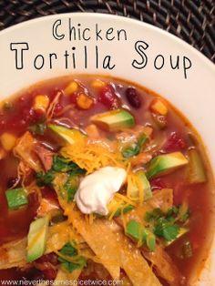 Tortilla soup, Tortillas and Tortilla soup recipes on Pinterest