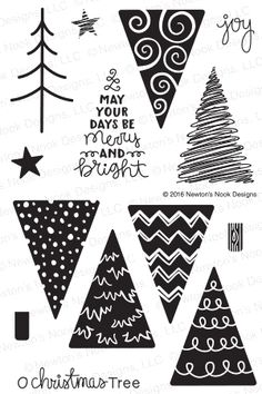 Newton's Nook Designs FESTIVE FOREST Clear Stamp Set 20161001 Preview Image