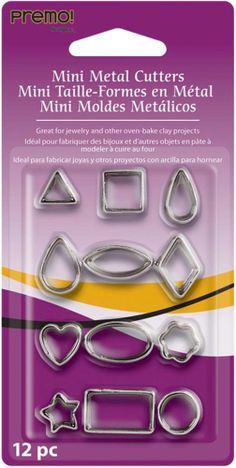 Premo 12pc Mini Metal Cutter Set - Basic, Clay crafts, kids crafts