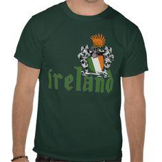Ireland Shield Tee Shirts #stpatricksday #stpattys #stpattysday #zazzle #green #ireland #shamrock #lucky #irish #sweepstakes