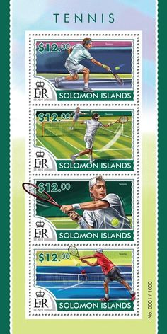 Post stamp Solomon Islands SLM 15316 aTennis