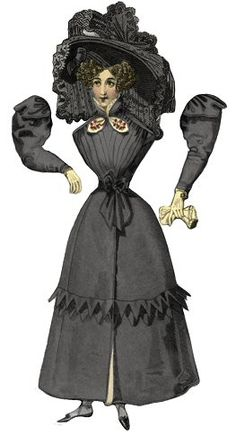 Free Printable Victorian Mourning Paper Doll ........ by ALTERED ARTIFACTS