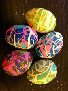Hot Glue Easter Eggs - 99 Crafting