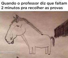 """""""Cuando el profesor dice que faltan 2 minutos para que se acabe la prueba."""" """"When the professor says there's two minutes left on the quizz."""""""
