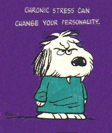 Stressed Snoopy