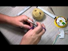 How to add Eye whites to your hand made Teddy part 4 - YouTube