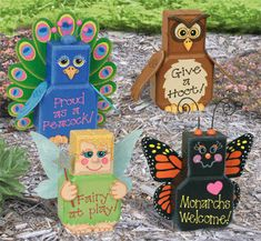 Yard & Garden Patio Paver Pals III Pattern Decorate your yard and garden with these adorable designs. #diy #woodcraftpatterns