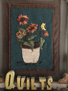 NEW wool applique pattern Fall flowers and by SusanGonzalesDesigns