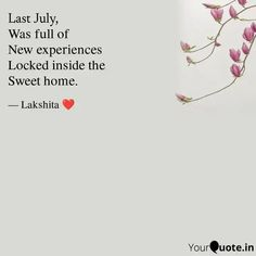 Writings, New Experience, Sweet Home, House Beautiful