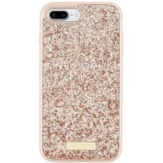 kate spade new york Glitter Case for iPhone 7 Plus Exposed Glitter... ($59) ❤ liked on Polyvore featuring accessories, tech accessories and kate spade