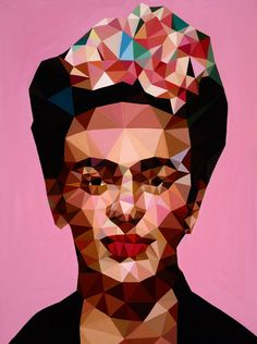 """If you love PINK: This original oil painting entitled """"Ms. Kahlo"""" is by artist Angie Jones, who lives in Los Angeles. Discover more of Angie's work at @SaatchiArt."""