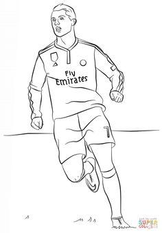Coloriage Du Joueur De Foot Zinedine Zidane à Imprimer Gratuitement