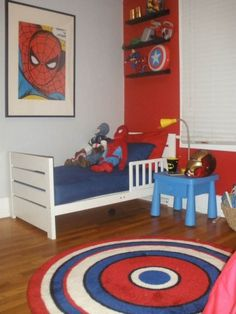 Could paint the wall by Michaels window and put the boys beds there. Rivers could have the opposite wall.