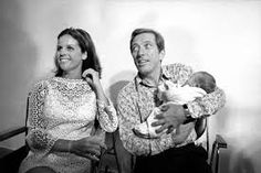 Andy Williams and wife Claudine Longet with baby Bobby Andy Williams, Bobby, Daughter, Couple Photos, People, Musica, Couple Shots, People Illustration, Couple Pics