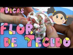 """PróximoReprodução automática DIY: """"Descabelados"""" A Diy Hair Bows, Diy Bow, Diy Flowers, Fabric Flowers, Fabric Flower Tutorial, Fabric Crafts, Diy And Crafts, Stitch, Sewing"""