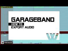 Garageband: How To Export Audio Garageband, Logic Pro X, Music App, Music Production, Helpful Hints, Ios, Audio, Tutorials, Technology