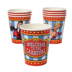 Under The Big Top Cups - OrientalTrading.com