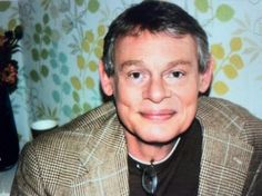 Martin Clunes in the green room waiting on This morning on Itv