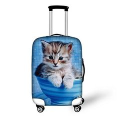 """New Trending Luggage: HUGSIDEA Cute Animal Cat Printing Luggage Protective Cover for 22/24/26 Inch Case. HUGSIDEA Cute Animal Cat Printing Luggage Protective Cover for 22/24/26 Inch Case  Special Offer: $18.99  344 Reviews Welcome to HUGSIDEA;""""hug creativity,hug life"""",HUGSIDEA bring you into a magic kingdom. Specially equiped with elastic spandex material and zipper..."""