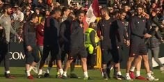 reaction football soccer training roma as roma calcio practice allenamento via diggita