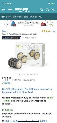 5895bd05dd5  11.99 Tegu wooden wheels Amazon link  Tegu 4 Pack Magnetic Wooden Wheels  https