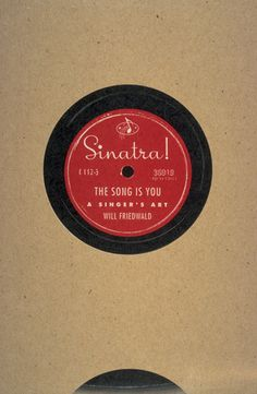 Book Cover. Designed by Carin Goldberg. Title: Sinatra! The Song is You. Author: Will Friedwald. 1994.