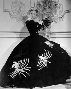 Edith Head gown for Barbara Stanwyck The Great Man's Lady 1942