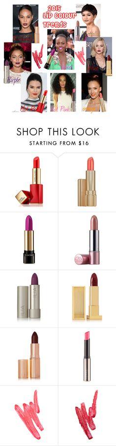 """2015 Lip Colour Trends"" by arethaman ❤ liked on Polyvore featuring beauty, Estée Lauder, Origins, Ilia, Lipstick Queen, Charlotte Tilbury, LORAC, beautytrends, lipcolour and 2015liptrends"