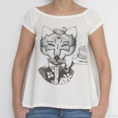 camiseta fox - Calendula
